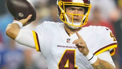 Taylor Heinicke threw for 336 yards and 2 TDs in the Washington Football Team's win against the Giants.
