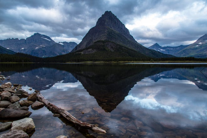 Predawn at Swiftcurrent Lake in Glacier National Park.
