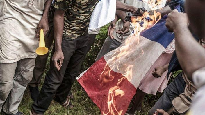 Burning of a French flag