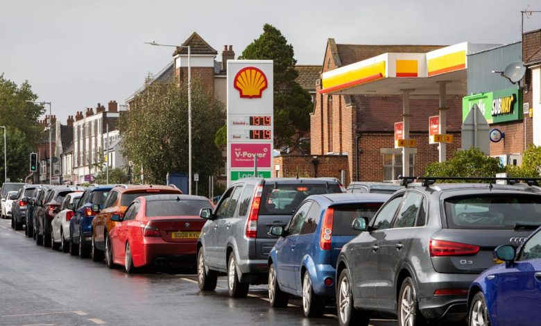 The British government calls in the army as UK gas stations run dry for a second week and shortages crisis grows