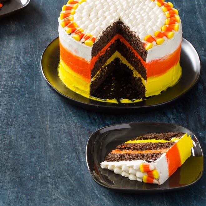 Can't get enough candy corn in your life? Bake America's Test Kitchen candy corn cake, which uses 45-50 pieces of the candy as an ingredient.