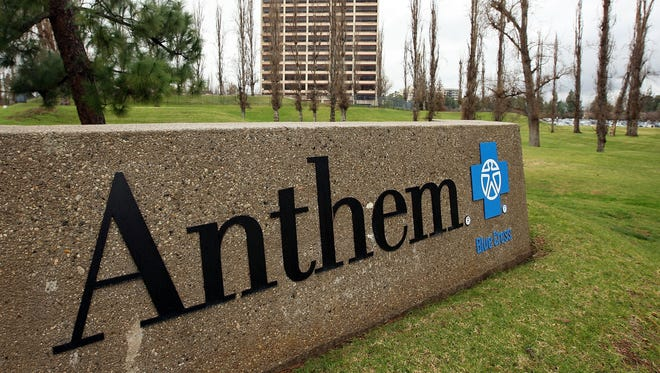 The Anthem Blue Cross headquarters is seen in February 2010 in Woodland Hills, California.