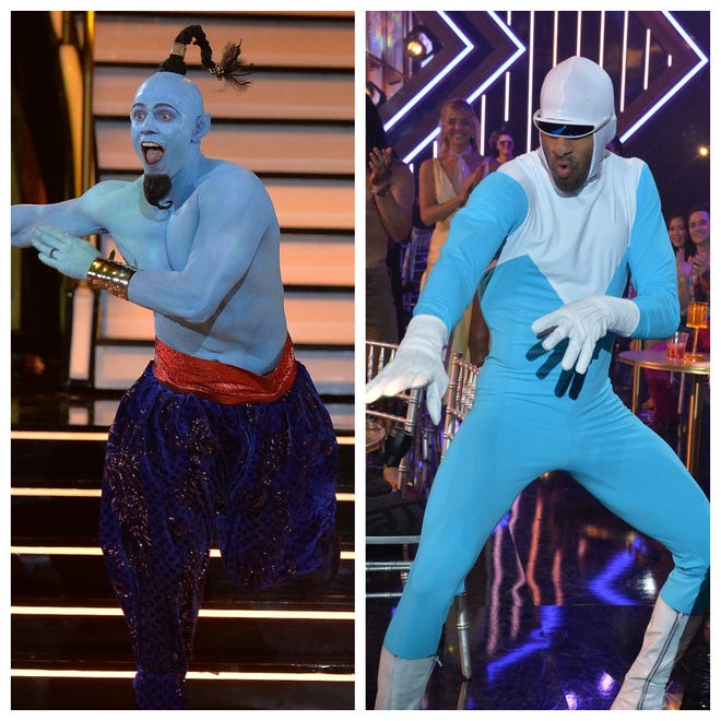"""The Miz as The Genie from """"Aladdin"""" and Matt James as Frozone from """"The Incredibles."""""""