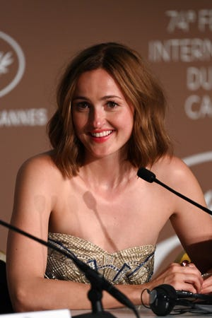 """""""The Worst Person in the World"""" breakout Renate Reinsve at a press conference in Cannes, France."""