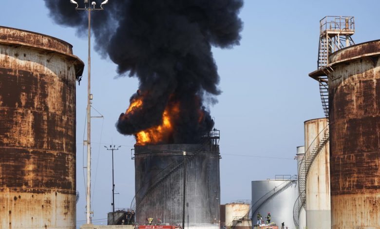 Huge fire breaks out at oil facility in southern Lebanon