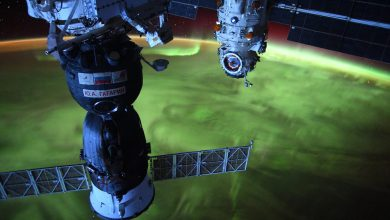 Incredible Green Smoky Swirls of Plasma Seen From Space Station