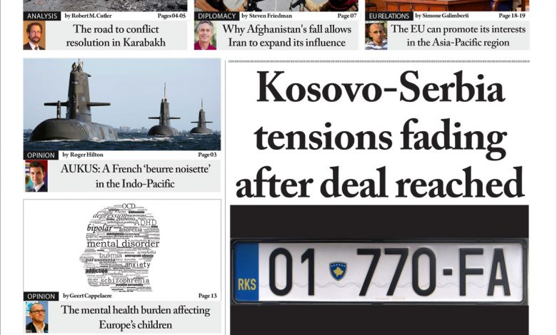 Issue 1406: Kosovo-Serbia tensions fading after deal reached (Digital Edition)