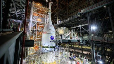 NASA's Powerful SLS Rocket Fully Stacked for Artemis I Moon Mission – Liftoff for Deep Space in February 2022