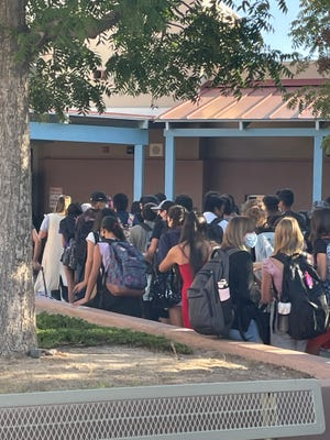 Students at Camino Real Middle School in Las Cruces came together after their peer was bullied for wearing her hijab at school. About 100 students escorted her to class the next day to support her.