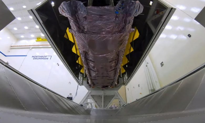 See how NASA ships the James Webb telescope in a massive 'suitcase'