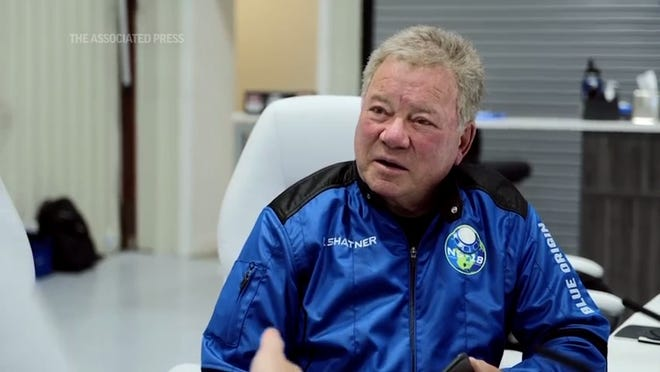 """Captain Kirk is rocketing into space: """"Star Trek"""" actor William Shatner plans to blast off from West Texas Wednesday. (Oct 12)"""